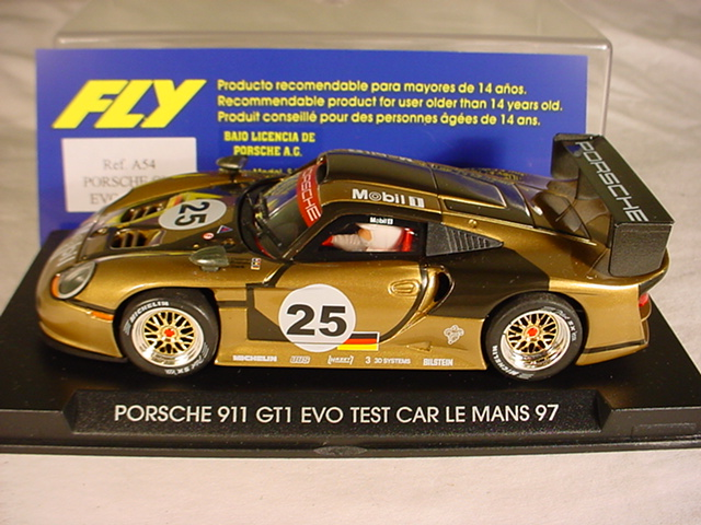 fly porsche 911 gt1 evo 25 le mans test car 1997 a54 mb. Black Bedroom Furniture Sets. Home Design Ideas