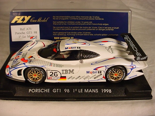 fly porsche 911 gt1 98 26 ibm mobil 1 le mans winner 1998 a71 mb ebay. Black Bedroom Furniture Sets. Home Design Ideas